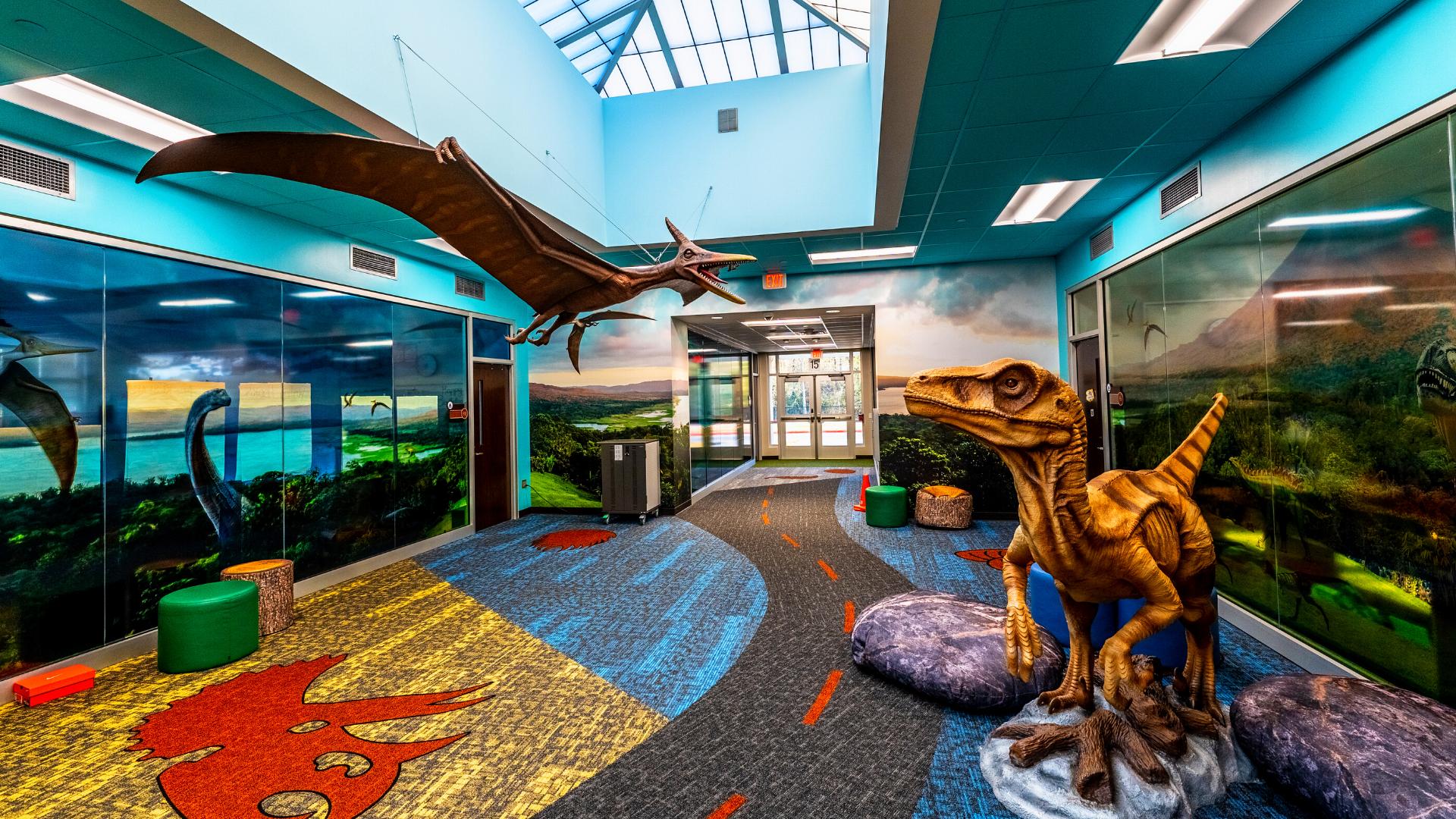 Fun dinosaur Room