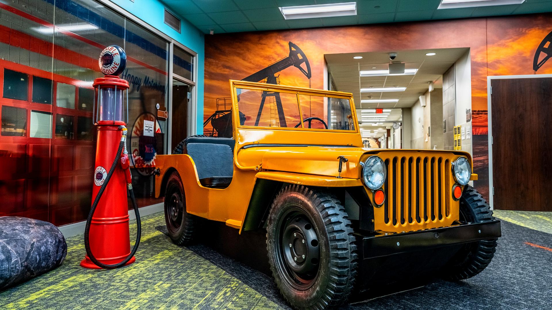 Jeep and retro gas