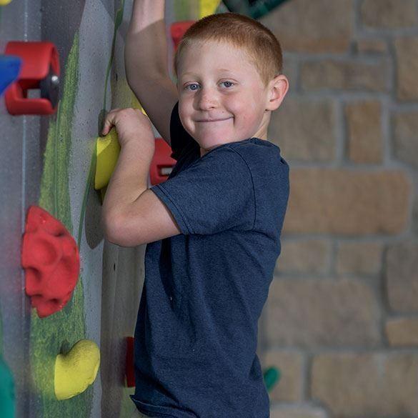 horseshoe bay resort child climbing wall