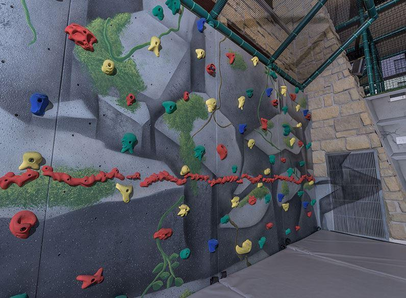 Kids club of horseshoe bay resort climbing wall
