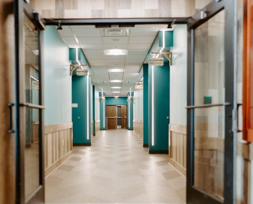 The Point hallway